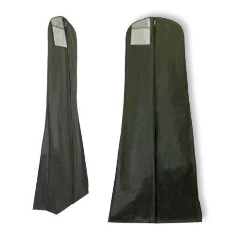 Hangerworld-Funda-para-vestidos-de-novia-con-cremallera-transpirable-con-bolsillo-interior-oculto-con-cremallera-182-cm-color-negro