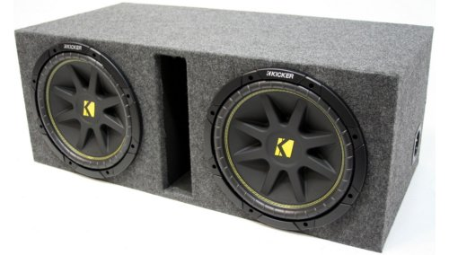 "Asc Package Dual 15"" Kicker Sub Box Vented Port Subwoofer 3/4"" Mdf Enclosure C15 Comp 1000 Watts Peak"