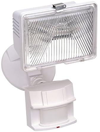 Heath Zenith SL-5525-WH 250-Watt Quartz Motion-Sensing Light, White