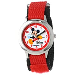 Disney Kids' W000012 Mickey Mouse Stainless Steel Time Teacher Watch