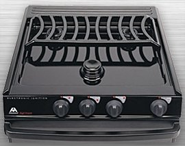 Atwood Ca-35 Bpn 52756 3 Burner Slide-In Cooktop Black Top Piezo Ignition For Notched Counter