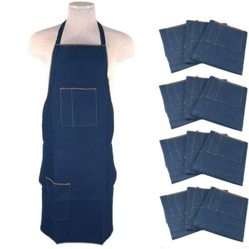 1 Dozen Heavy Duty Denim Aprons Tool Shop Work Shop New