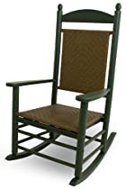 Hot Sale POLYWOOD K147FGRTW Jefferson Woven Rocker, Green/Tigerwood