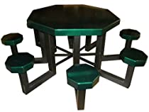 Hot Sale OFAB Custom Theme Tables 347A0003 48-Inch Octagon Aluminum Picnic Table, Green tatter *** Lifetime Warranty ***
