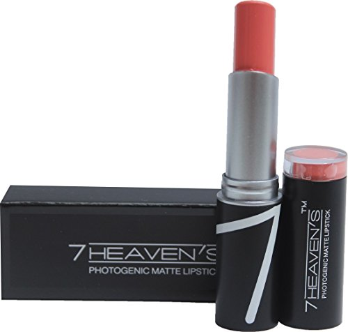 7 Heaven's 7 Heaven's PhotoGenic Matte Lipstick ,PEACH 605, 3.8 g