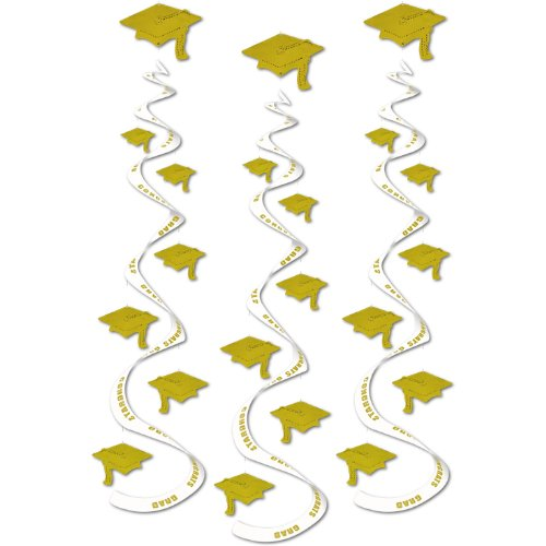 Printed Grad Cap Whirls 30in. 3/Pkg, Pkg/3