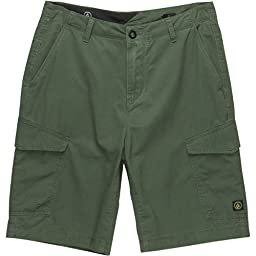 Volcom Men\'s Fieldstone Cargo Short, Olive, 28