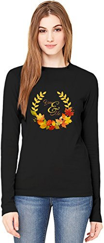 You and me T-Shirt da Donna a Maniche Lunghe Long-Sleeve T-shirt For Women| 100% Premium Cotton| DTG Printing| Large