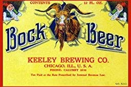 Paper poster printed on 20 x 30 stock. Bock Beer