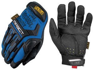 Mechanix Wear M-Pact MPT-03 Blue 12 Synthetic Leather/Trekdry Mechanic's Gloves - Thermoplastic Elastomer Fingers & Knuckles Coating - MPT-03-012 [PRICE is per PAIR]