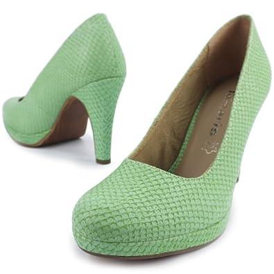 tamaris damen pumps high heels plateau reptil look. Black Bedroom Furniture Sets. Home Design Ideas