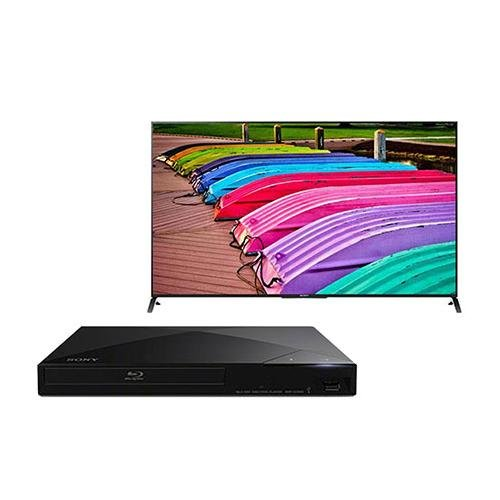 """Sony Xbr-49X850B 49"""" Ultra Hd 3D Led Tv, 4K Resolution, - Bundle With Sony Bdp-S1200 Blu-Ray Disc Player"""