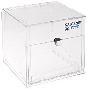 Nalgene 5830-0002 Acrylic Lab Organizer Dispensing Bin, Front Opening, 152mm Length x 152mm Height x 152mm Depth