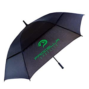 Procella Umbrella 62-Inch Large Double Canopy Windproof Auto Open Golf Umbrella by Procella Umbrella