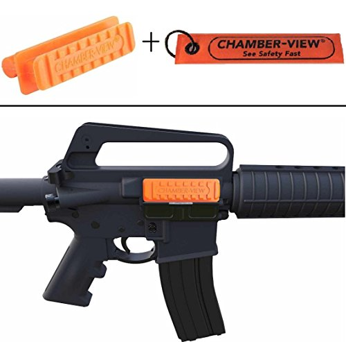 buy Ultimate Arms Gear Chamber-View .308/7.62 Semi-Auto AR-10 AR10 Rifles Empty Chamber Safety Flag Load Indicator Device Polymer Orange Dummy Ammunition Ammo Shell Round + Fast Pull-Tag Identification for sale