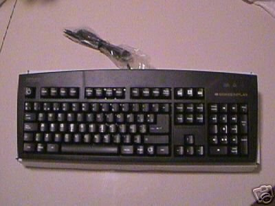 *New* Spanish Espanol Black Keyboard Ps2 Ps/2- Foreign Keyboard - Spain