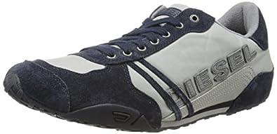 Diesel Men's Harold Solar Fashion Sneaker, Paloma/Blue Nights, 7 M US