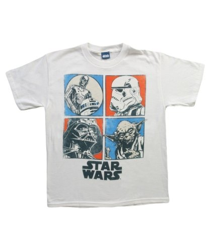 Star Wars Big Boys' Profile Tee, White Uv, X-Large