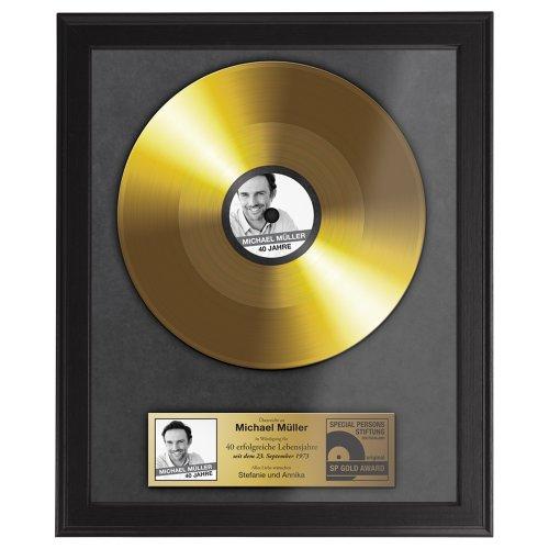 Goldene schallplatte urkunde personalisiert mit namen - Bilderrahmen personalisiert ...