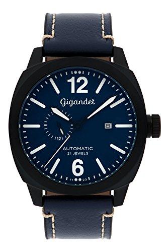 Gigandet Red Baron III Herren Automatik Armbanduhr Fliegeruhr Analog Blau Schwarz G16-005