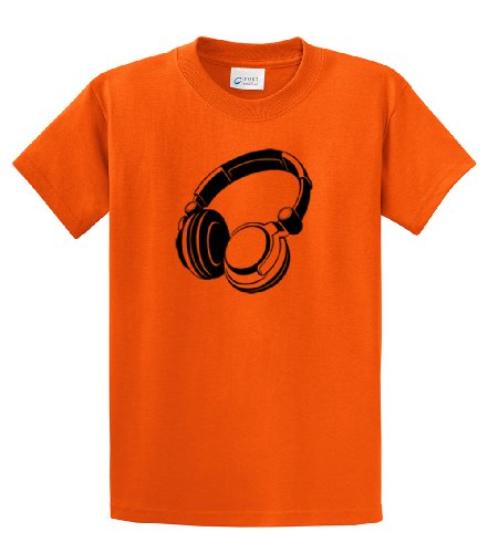 Music Lover'S T-Shirt Retro Headphones -Orange-5Xl