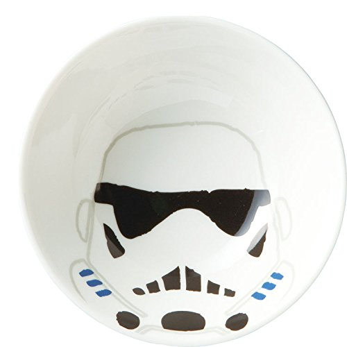 Japan Disney Official Star Wars the Force Awakens - Stormtrooper Mask White Authentic Japanese Ceramic Tea Bowl with Stand Matcha Chawan Ceremony Soup Rice Pottery Porcelain Dish Dishware (Yoda Bowl)