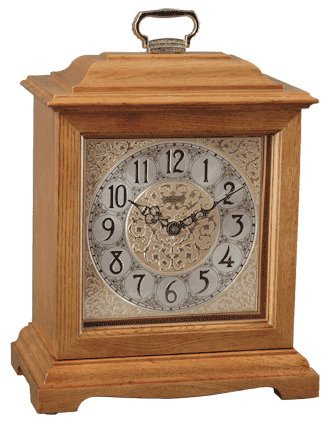 Hermle Ashland Table/Mantel Clock in Oak with Quartz Movement Sku# 22825I92114