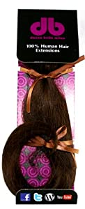 Donna Bella Full Head 100% Human Hair Clip In Hair Extensions, 16 Inches, Color No. 4/33, 4 Ounce