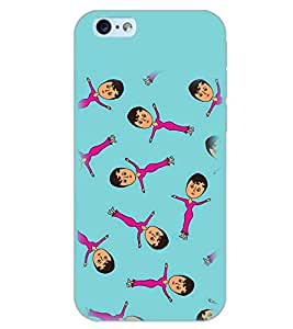 PrintDhaba GIRL PATTERN D-6802 Back Case Cover for APPLE IPHONE 6 PLUS (Multi-Coloured)