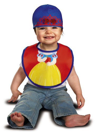 Disguise Baby Girl's Disney Snow White Infant Bib and Hat Costume