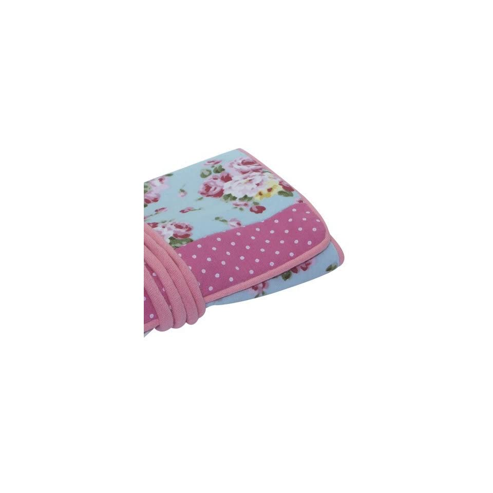 Jewelry Roll, Fairtrade, Pretty Turquoise, Pink Roses and Spot Fabric, Fairtrade