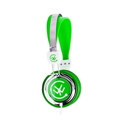Urbanz Zip Kids Childrens Lightweight Dj Style Headphones (Green)