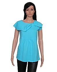Ninelions fashions Sky blue colour cotton top