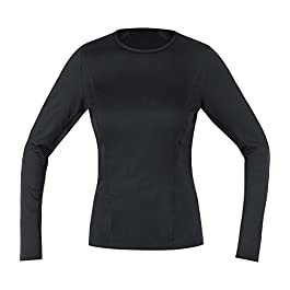 Gore Women's Essential Base Layer Long Sleeve Running Shirt Black 10