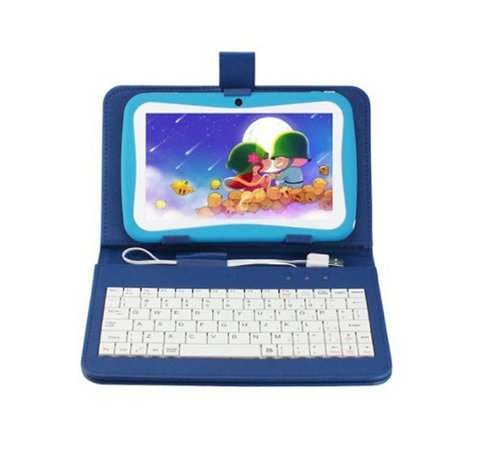 "Birthday Gift Bundle With Blue Keyboard Case-Blue Kid Tab 7"" Tablet Pc Android 4.1 Mid 4Gb Dual Camera Wifi External 3G For Children"