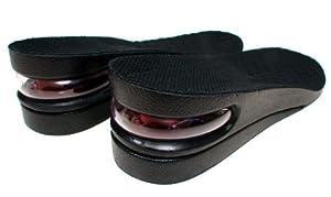 Mens Black Air Cushion Height Increase Shoe Lift Taller Insoles