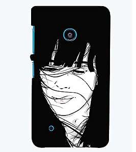 PRINTSWAG GIRL ART Designer Back Cover Case for NOKIA LUMIA 530