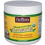 ヌティバ(Nutiva) オーガニックエクストラバージンココナッツオイル 444ml [海外直送][並行輸入品]