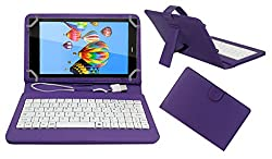 ACM PREMIUM USB KEYBOARD TABLET CASE HOLDER COVER FOR DIGIFLIP PRO XT811 With Free MICRO USB OTG - PURPLE