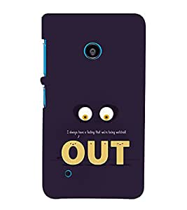 Funny Eyes Out 3D Hard Polycarbonate Designer Back Case Cover for Nokia Lumia 530 :: Microsoft Lumia 530
