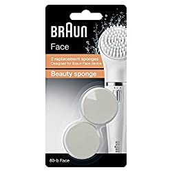 Braun Face 80 B Beauty Sponge Refills for Braun Face Cleansing Brush (Multicolor, Pack of 2)