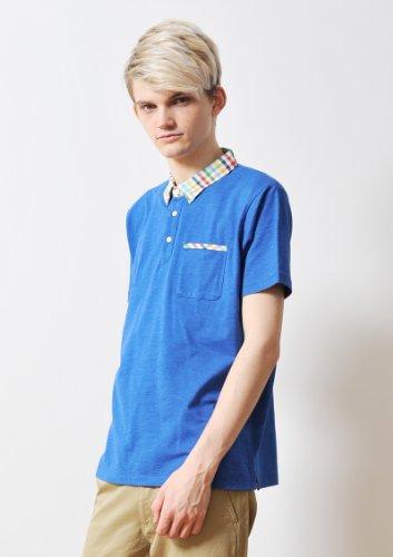 ( グラニフ ) graniph クロスカラー ポロシャツ ( ヘザーブルー ) L