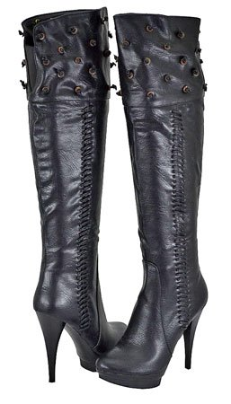 Rev Cleopatra Encore Black Women Over The Knee Boots