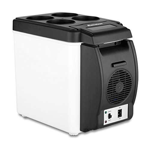 Excelvan BT16 6L 12V Portable Car Thermoelectric Cooler Warmer Electric Fridge Travel Refrigerator (Electric Portable Freezer compare prices)
