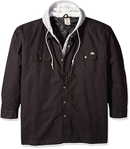 dickies-mens-tall-hooded-quilted-canvas-shirt-jacket-black-2x-large-tall