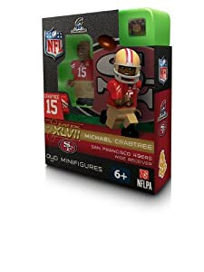 Michael Crabtree 2012 NFC Champions Oyo Mini Figure Lego Compatible San Francisco... by OYO