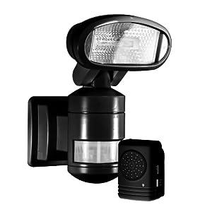 Security light with indoor alert