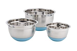 Paderno 3-Piece Mixing Bowl Set - Blue Base