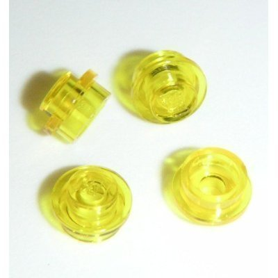 Lego Parts: 100 Round Transparent Yellow Plates 1x1 - 1
