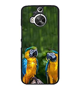 Blue Yellow Parrots 2D Hard Polycarbonate Designer Back Case Cover for HTC One M9 Plus :: HTC One M9+ :: HTC One M9+ Supreme Camera